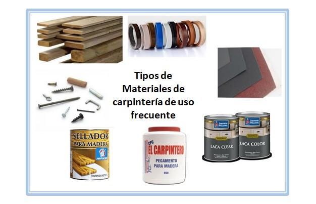 Materiales de Carpintería