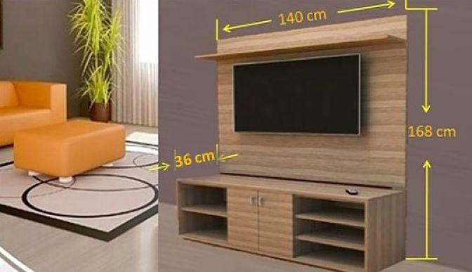 hacer mueble tv madera Centro De Entretenimiento Para TV Plano Aprende Aqu Como