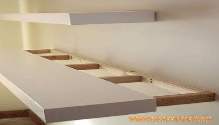 Repisa de madera Flotante