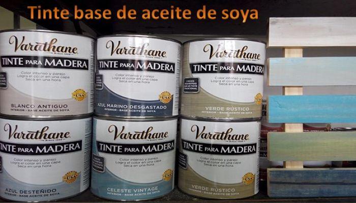 Tinte base de aceite de soya