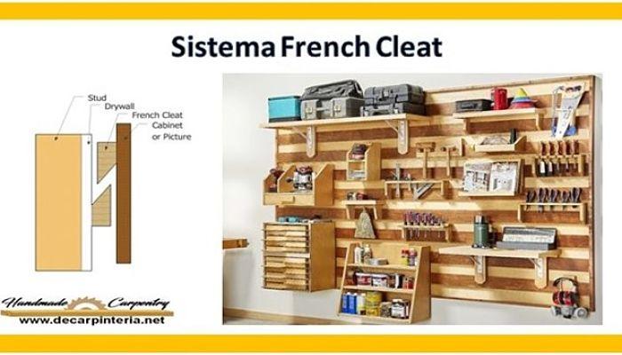Sistema French Cleat para Organizar
