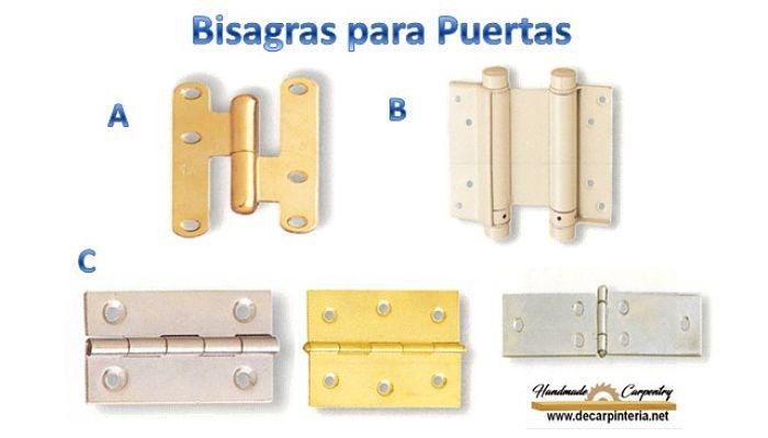 Bisagras para Instalar en Puertas de Madera