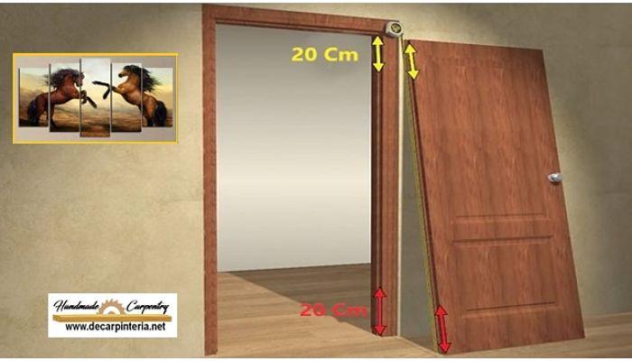 Medidas de la distancias de las Bisagras en una puerta