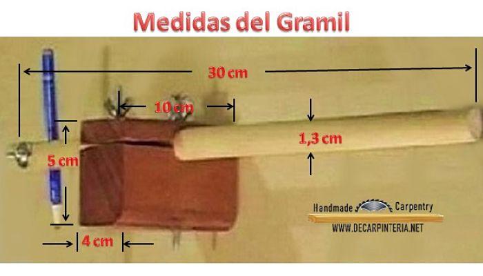 Medidas del Gramil
