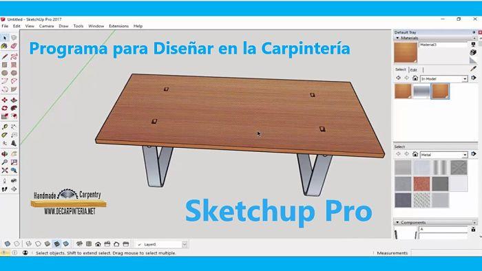 Software de diseño en la Carpintería