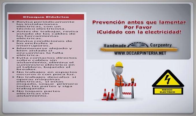 Prevención de accidentes con choque eléctrico