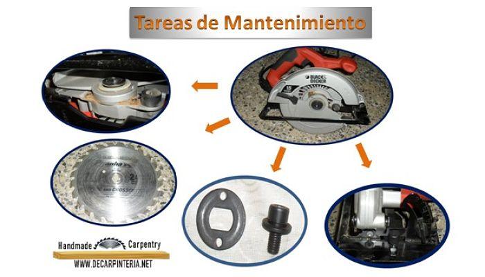 Mantenimiento básico de una sierra circular