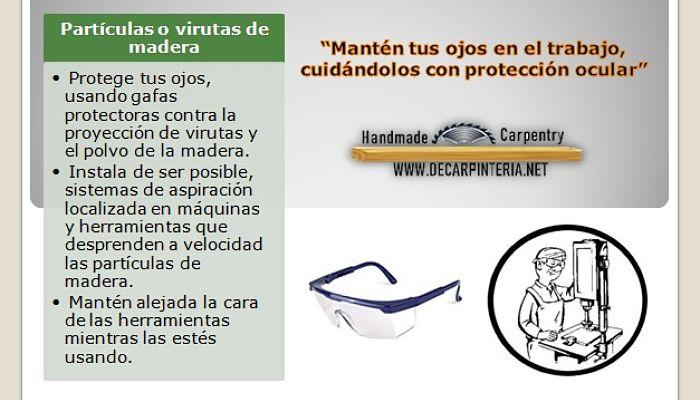 Prevención de accidentes, riesgo virutas proyectadas