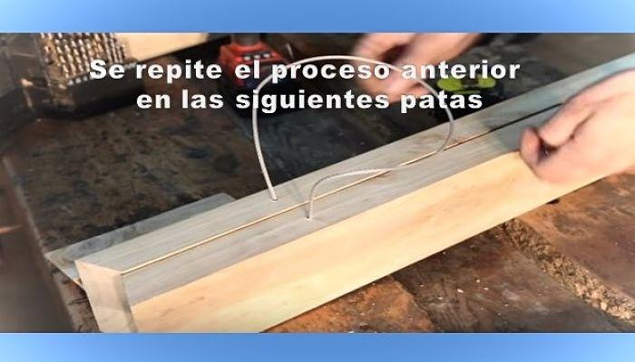 Proceso de construcción de caballete