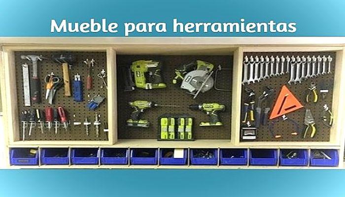 Mueble para herramientas de pared