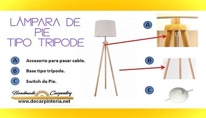 Lámpara De Pié En Madera Cómo Construir Una Rápido Y Fácil