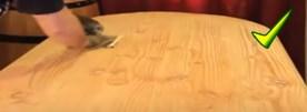 Restaurar una mesa con lija 360