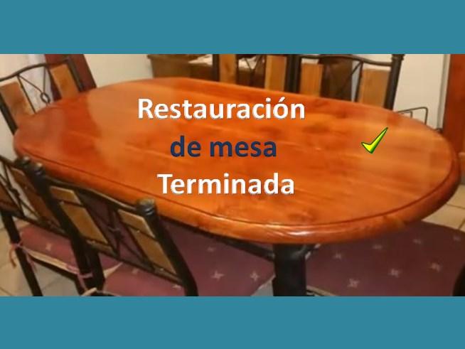 Restaurar una mesa, acabado final