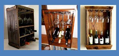 Caja para vinos con cajas de frutas de madera