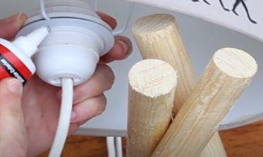 como hacer una lámpara