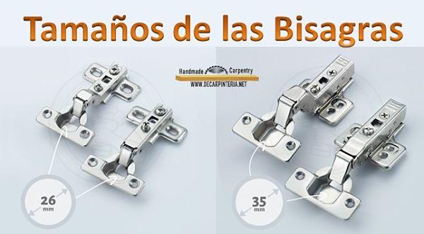 Los tamaños más comunes y disponibles en tiendas como ferreterías son de Diámetros Ø 26mm y de Ø 35 mm respectivamente.
