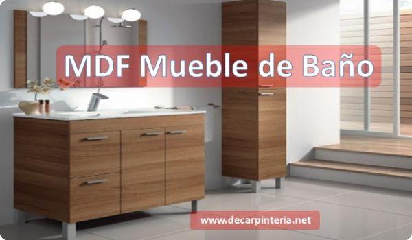 MDF Vs madera en mueble de Baño