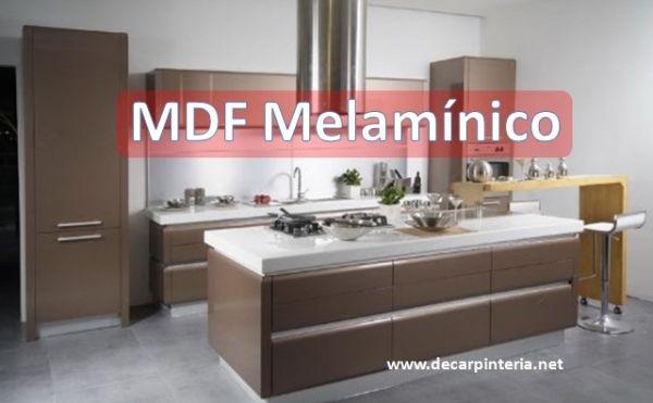 Mdf Melamínica en Gabinetes de cocina