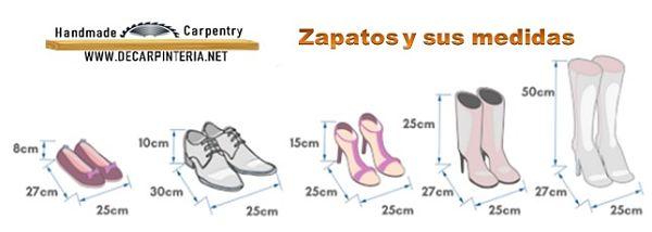 Zapatos y sus medidas