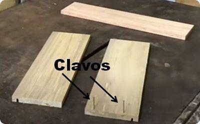 Clavos de 1,5 pulgadas para el cajón de madera