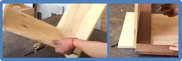 Proceso de medir el costado interno donde irá la corredera telescópica