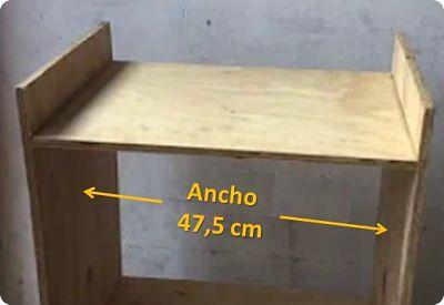como hacer un cajón desde la medida del ancho interno del mueble de madera