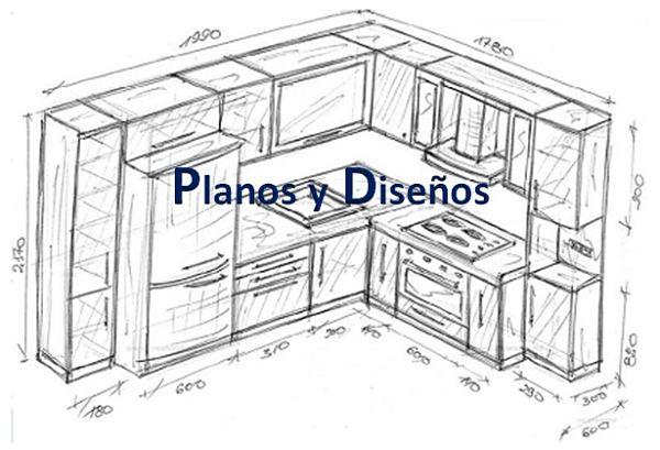 Planos y Bocetos de cocina 1