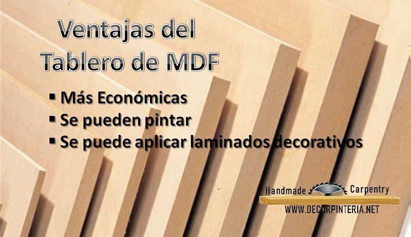 Ventajas del tablero de MDF