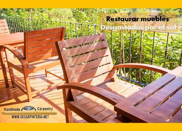 Cómo Restaurar muebles por efectos del sol