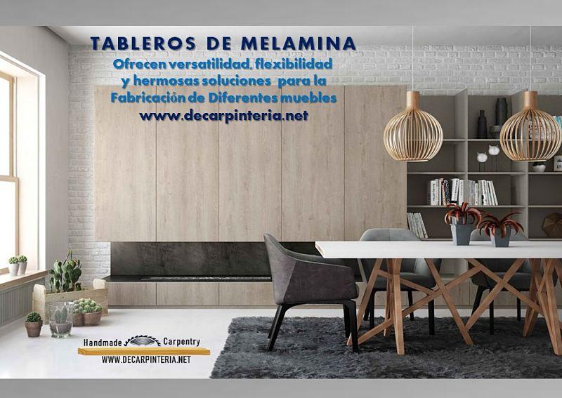 TABLEROS DE MELAMINA ofrecen versatilidad, flexibilidad y hermosos diseños a la hora de fabricar muebles
