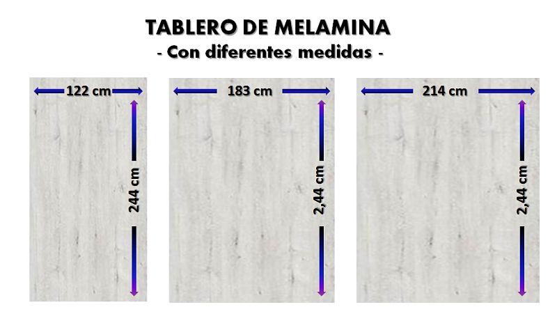 tablero de melamina y como reconocerlo por sus diferentes medidas