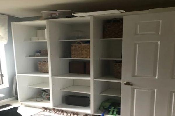 Espacio antes de realizar los muebles de cocina inferior