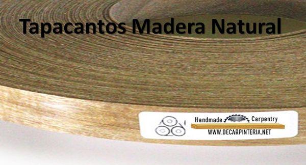 tapacantos de madera natural