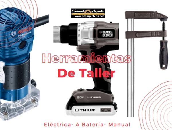 Herramientas-de-taller-Eléctrica-A batería-y-Manual