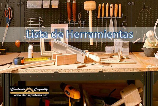 Lista de Herramientas de taller
