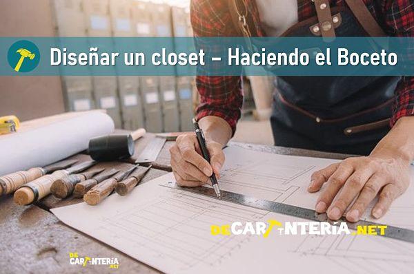 Diseñar un closet - Haciendo el boceto